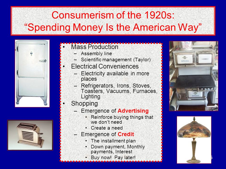 Consumerism of the 1920s: Spending Money Is the American Way