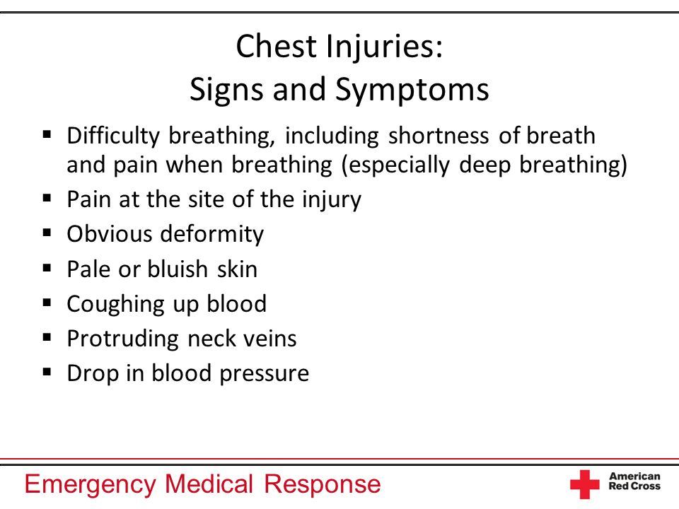 Chest Injuries: Signs and Symptoms