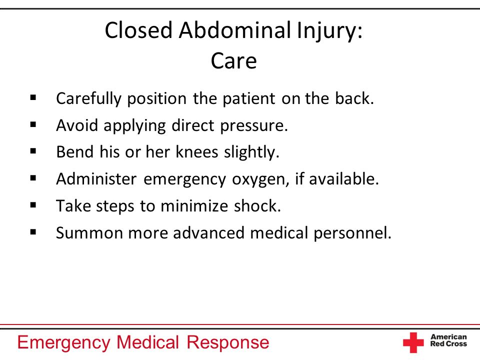 Closed Abdominal Injury: Care