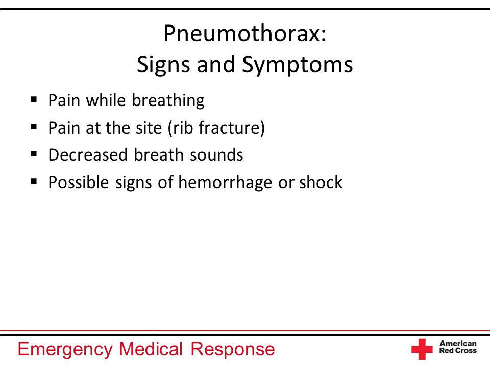 Pneumothorax: Signs and Symptoms