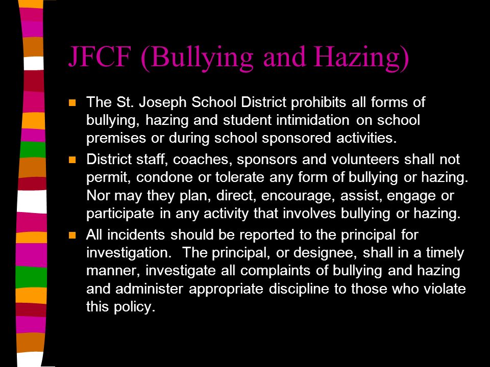 JFCF (Bullying and Hazing)