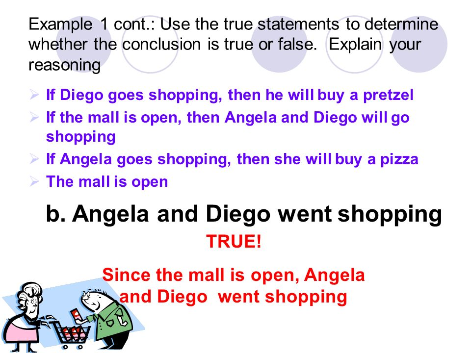 Since the mall is open, Angela and Diego went shopping