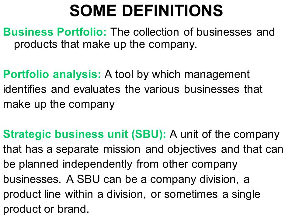 FORMULATION OF STRATEGY: ANALYSING THE PRODUCT PORTFOLIO - ppt video