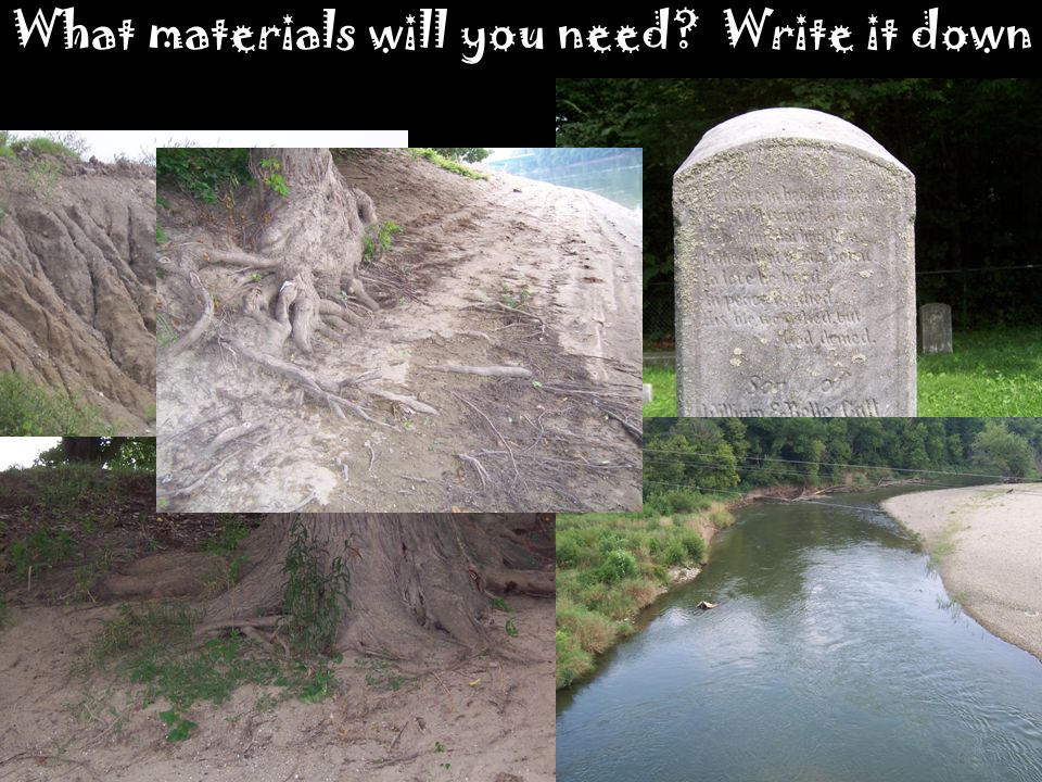 What materials will you need Write it down