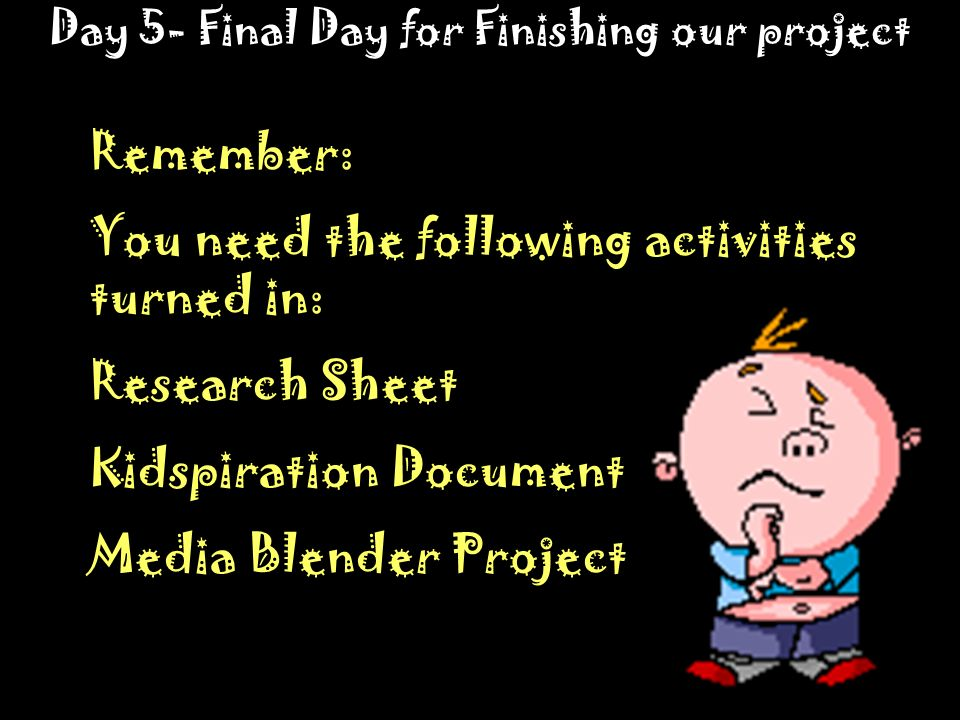 Day 5- Final Day for Finishing our project