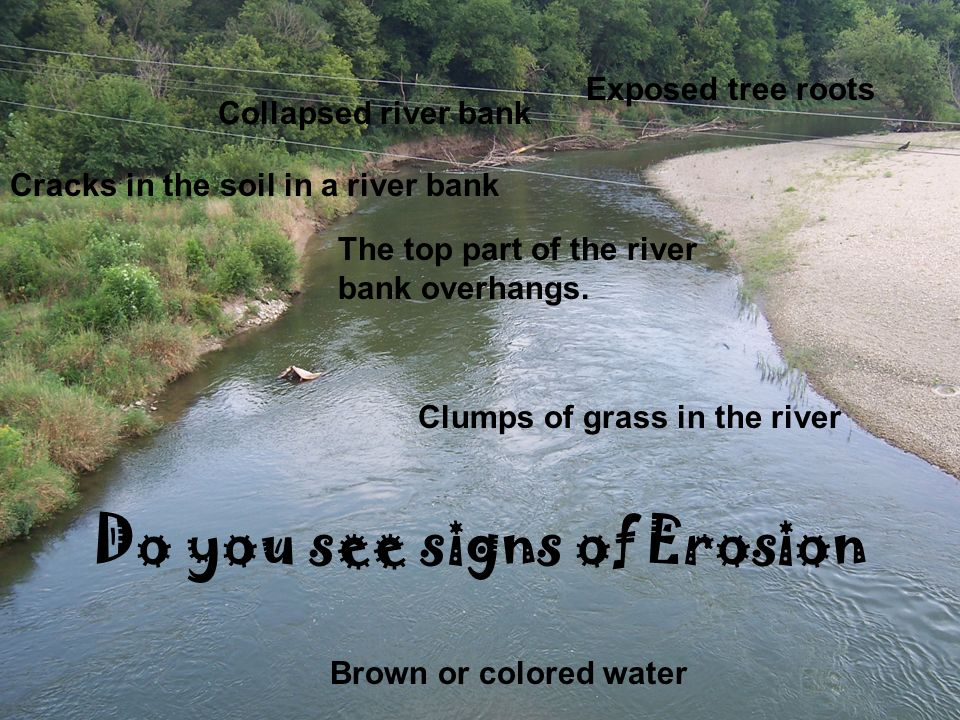 Do you see signs of Erosion
