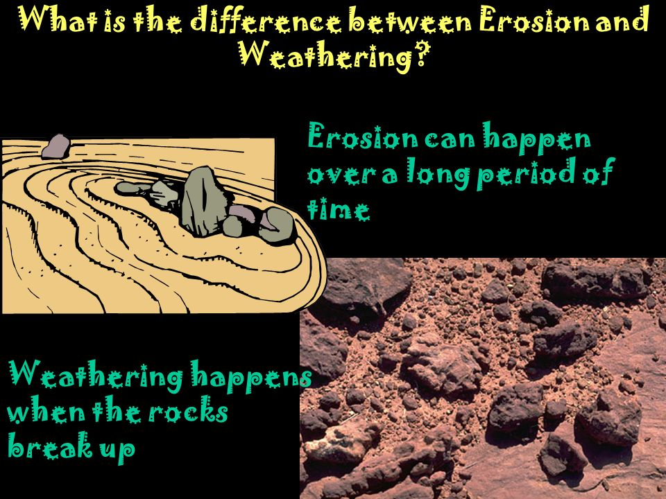 What is the difference between Erosion and Weathering
