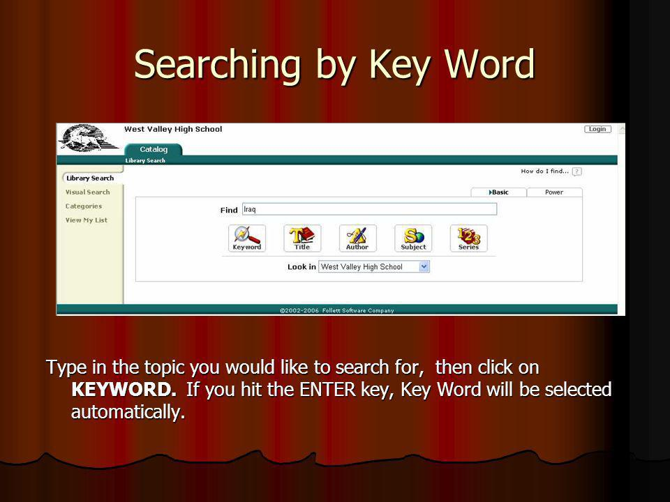 Searching by Key Word