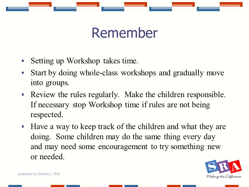 Remember Setting up Workshop takes time.