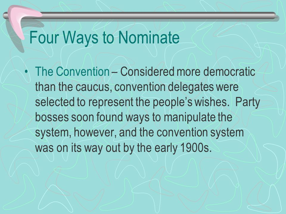 Four Ways to Nominate