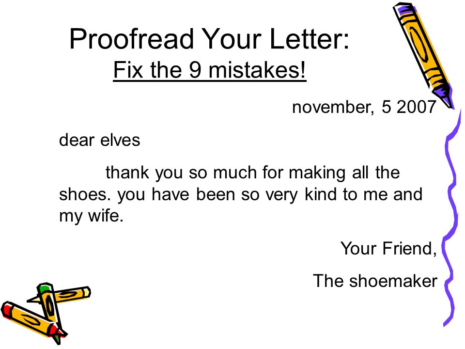 Proofread Your Letter: Fix the 9 mistakes!