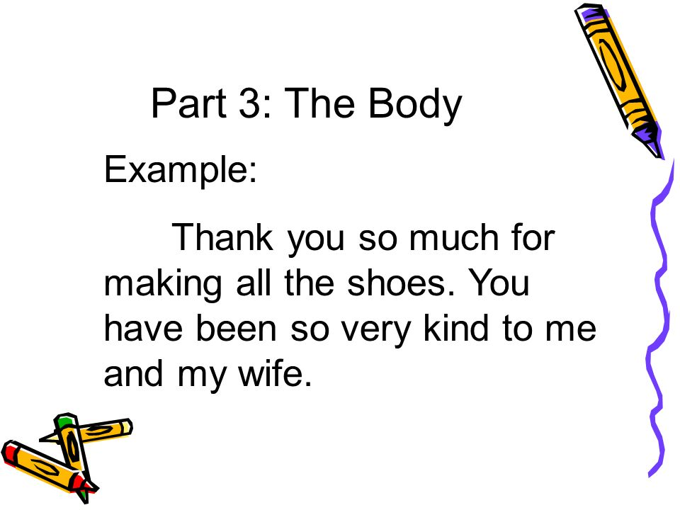 Part 3: The Body Example: