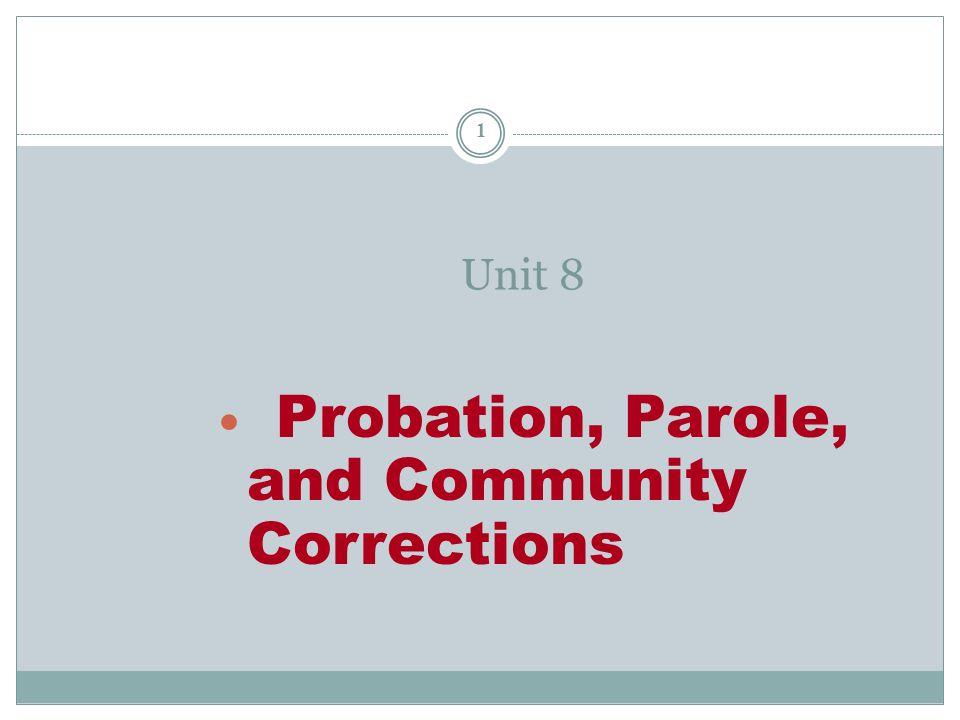 probation and parole research paper topics