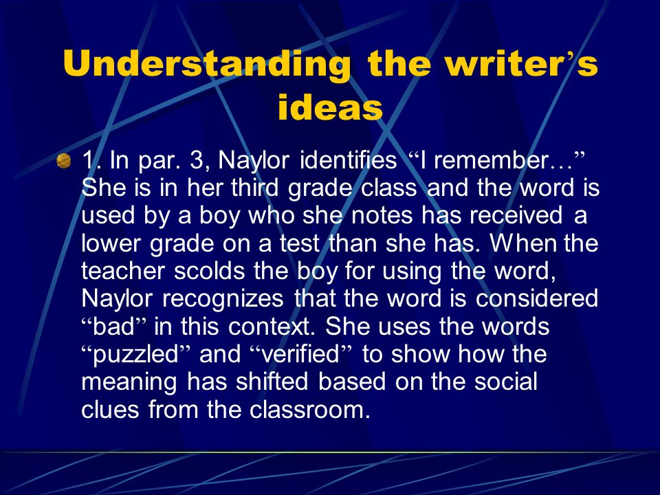 gloria naylor the meanings of a word