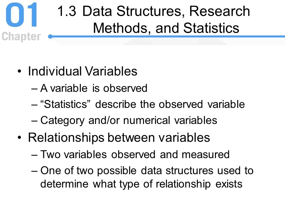 1.3 Data Structures, Research Methods, and Statistics