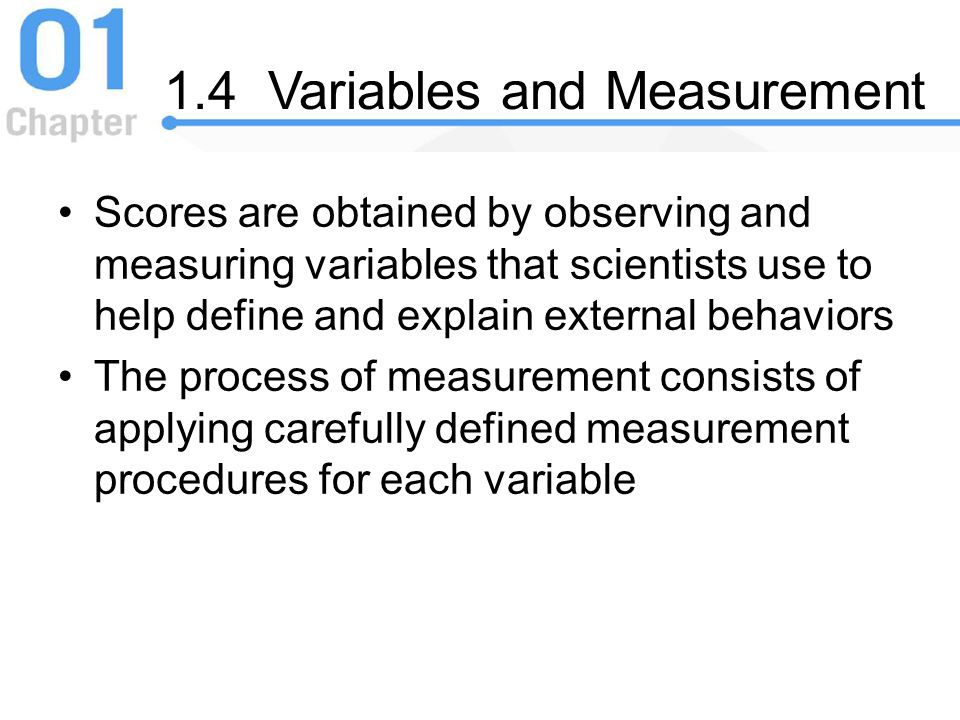 1.4 Variables and Measurement
