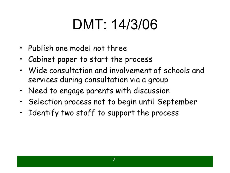 DMT: 14/3/06 Publish one model not three
