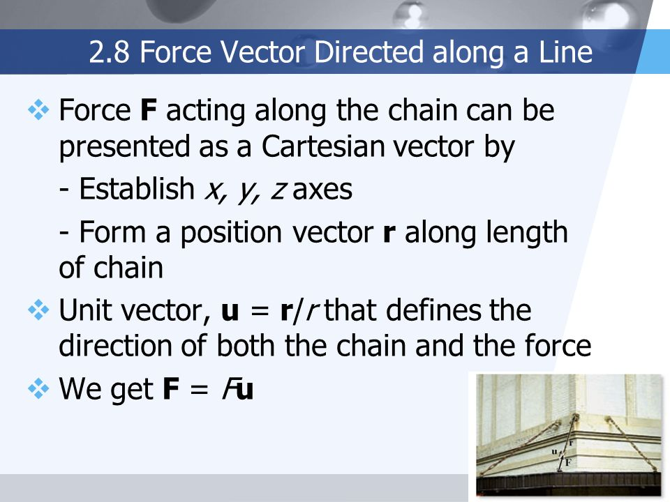 2.8 Force Vector Directed along a Line