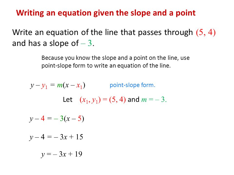 point slope form questions  12.12 Essential Questions What is the point-slope form? - ppt ...