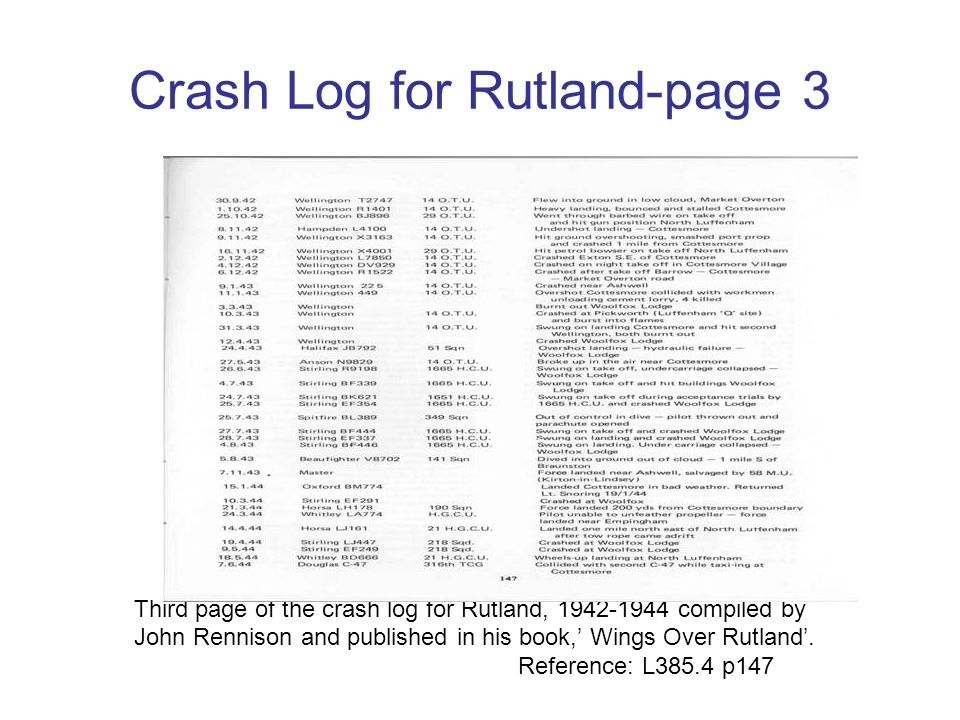 Crash Log for Rutland-page 3