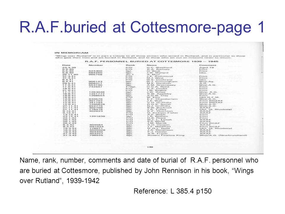 R.A.F.buried at Cottesmore-page 1