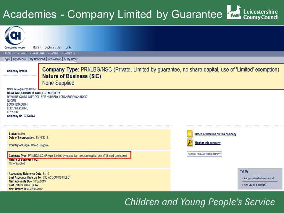 - Company Limited by Guarantee