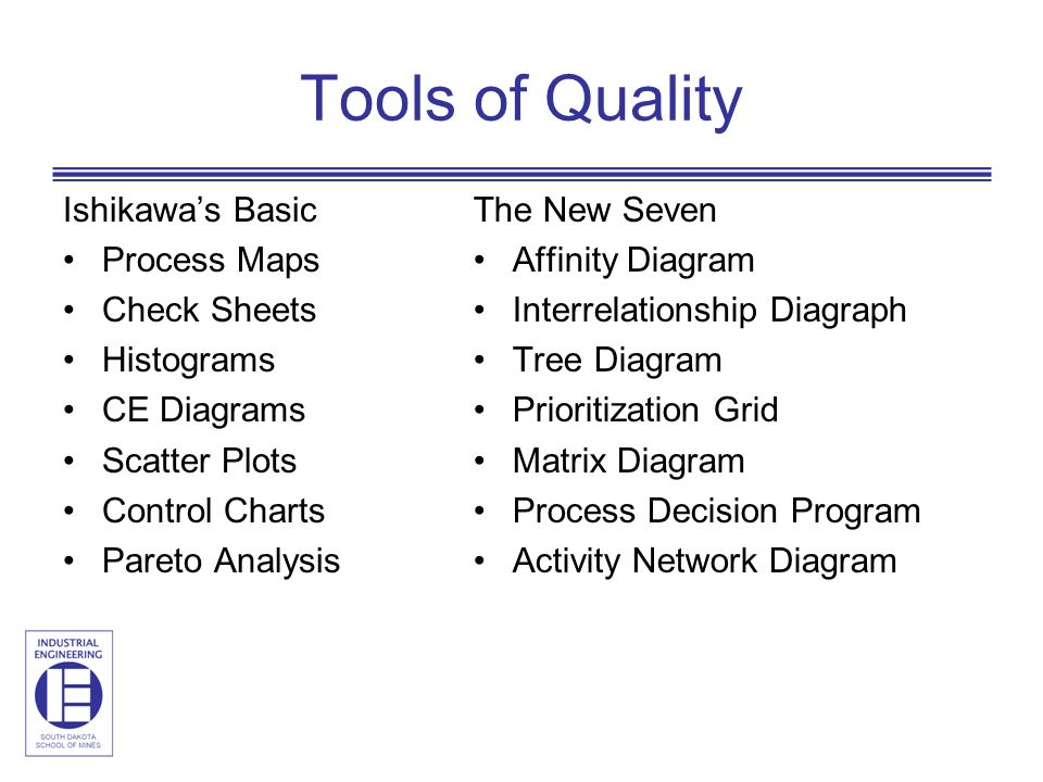 Engm 620 quality management ppt video online download 4 tools of quality ccuart Choice Image