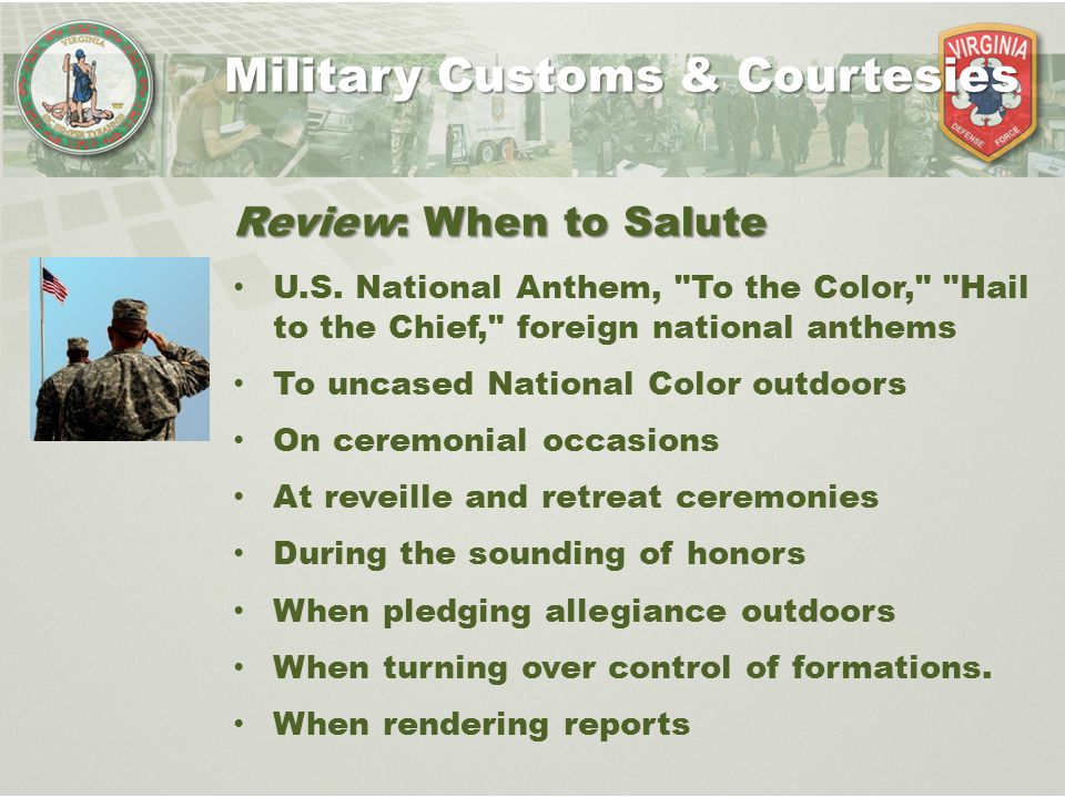 Us army customs and courtesies essay