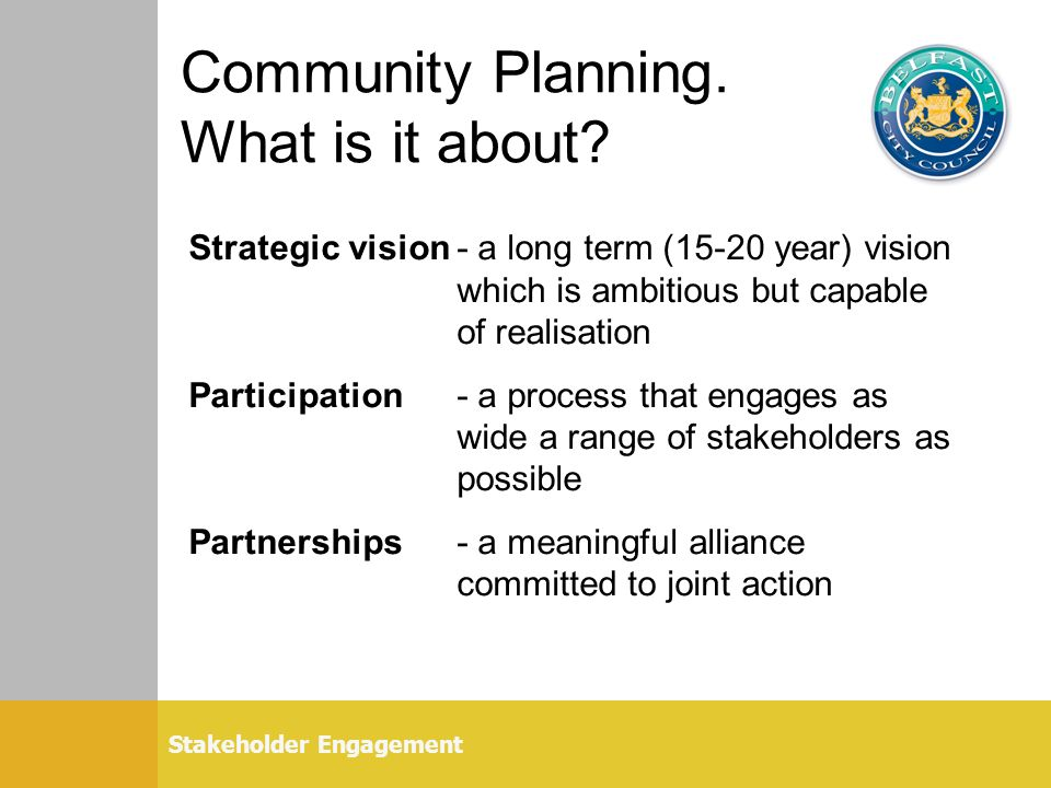 Community Planning. What is it about