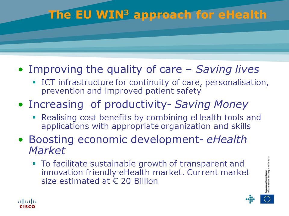 The EU WIN3 approach for eHealth