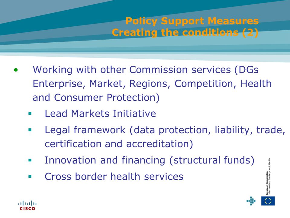 Policy Support Measures Creating the conditions (2)