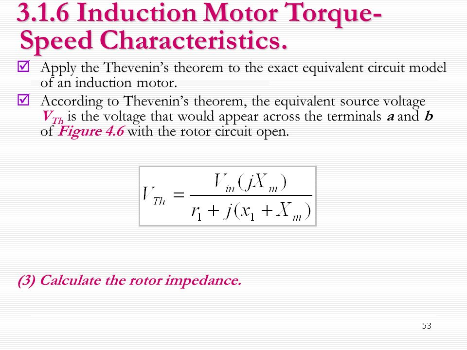 chapter 3 basic ac motor school of computer and equivalent circuit of three phase induction motor circle diagram for induction motor