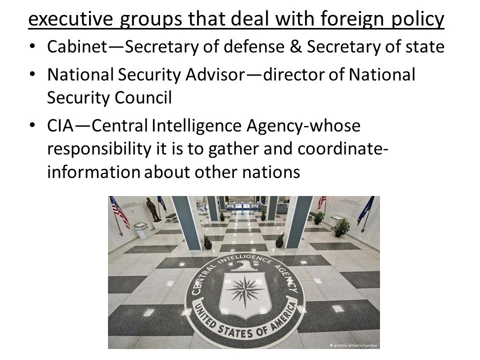 executive groups that deal with foreign policy
