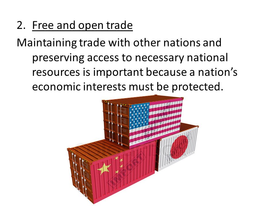 Free and open trade