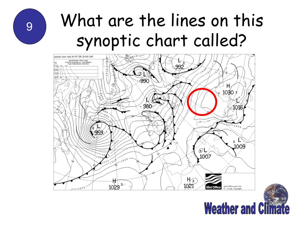 What are the lines on this synoptic chart called
