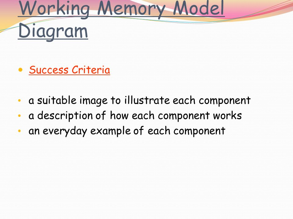 The Working Model Of Memory Ppt Video Online Download