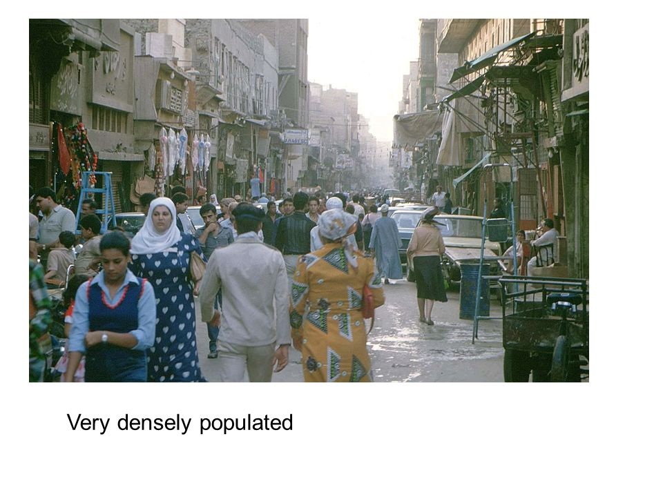 Very densely populated