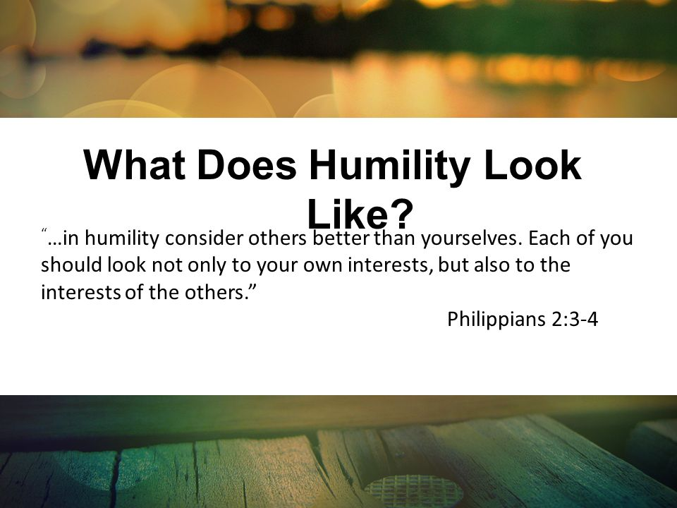 What Does Humility Look Like