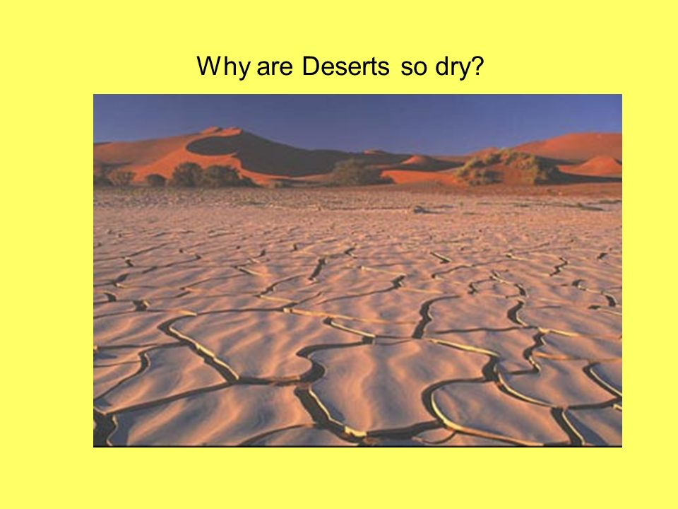 Why are Deserts so dry