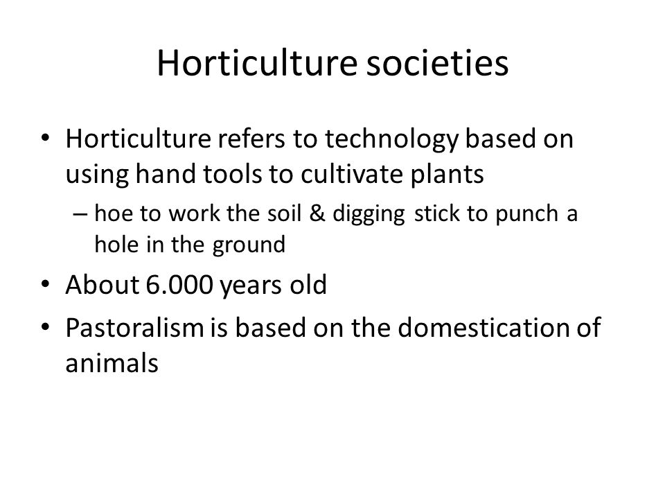 horticultural society definition