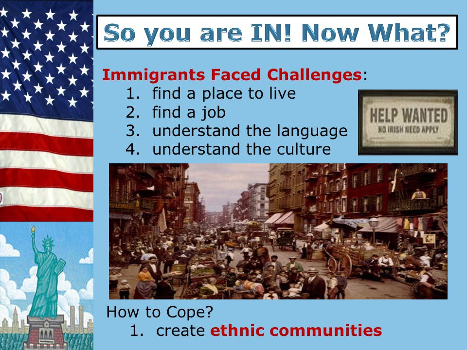 So you are IN! Now What Immigrants Faced Challenges: