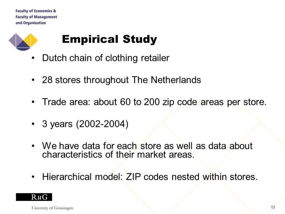 Store Location: Evaluation and Choice Based on Geographical
