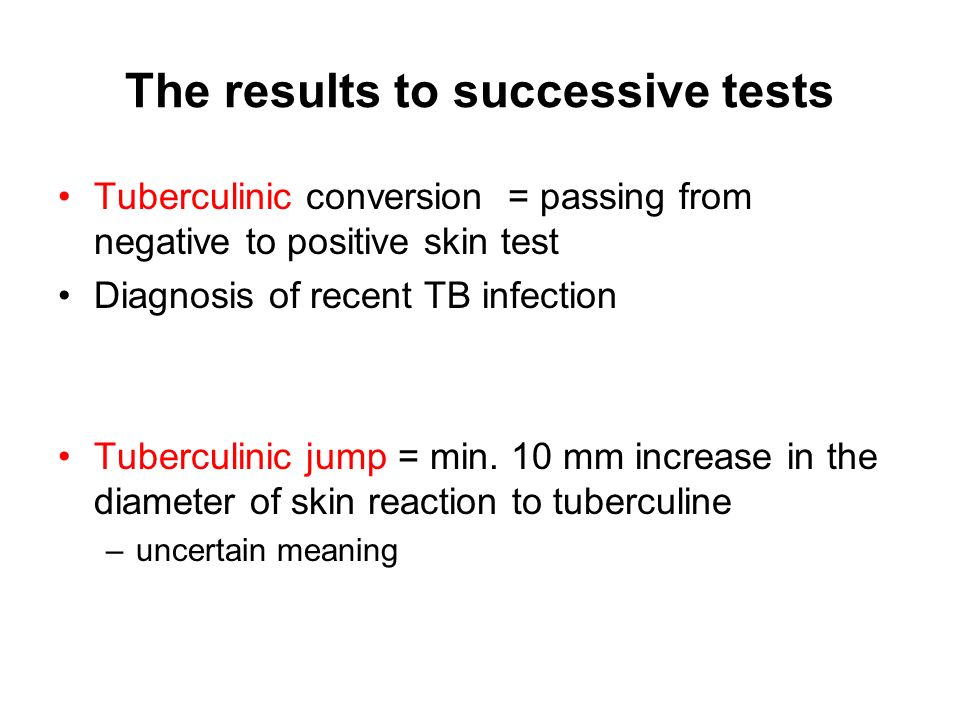 The results to successive tests