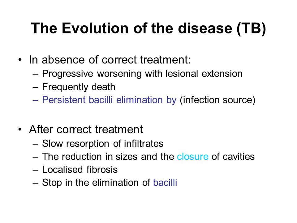 The Evolution of the disease (TB)