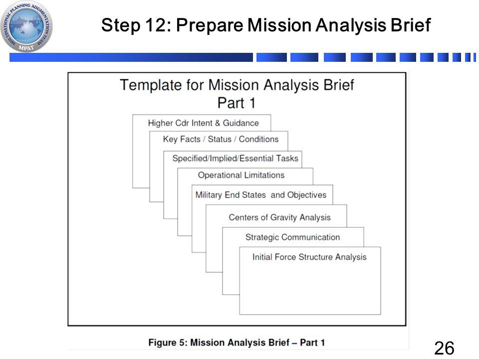 Step 12 Prepare Mission Analysis Brief