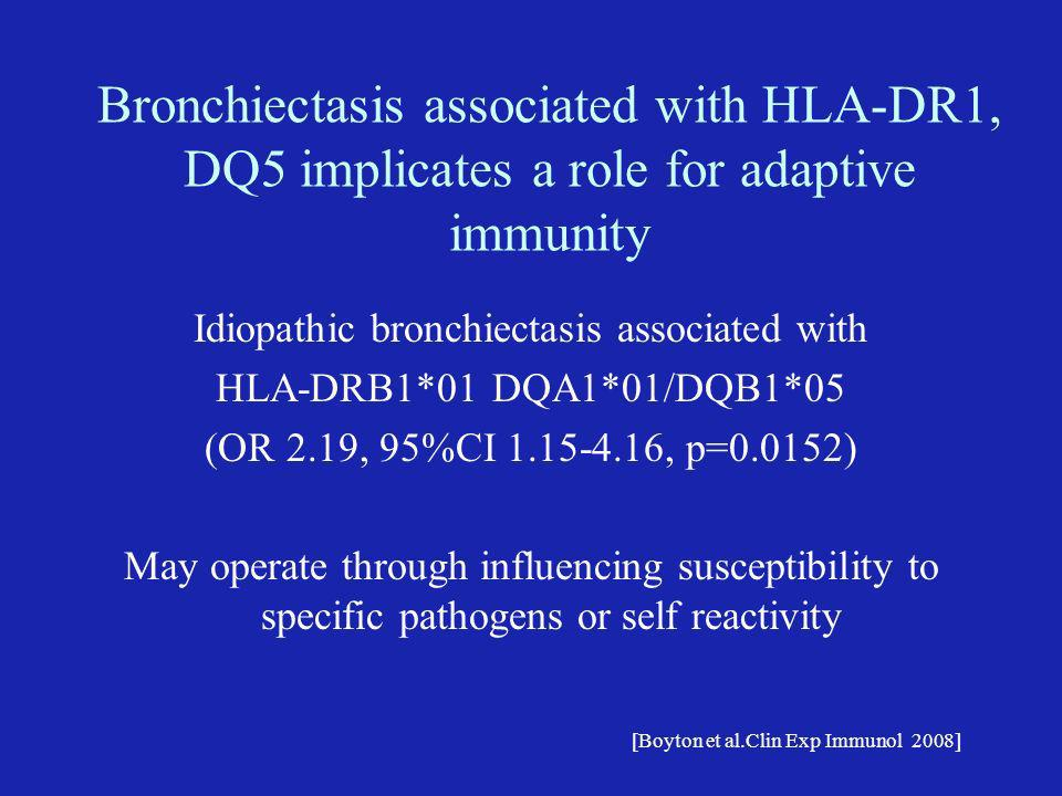 Idiopathic bronchiectasis associated with