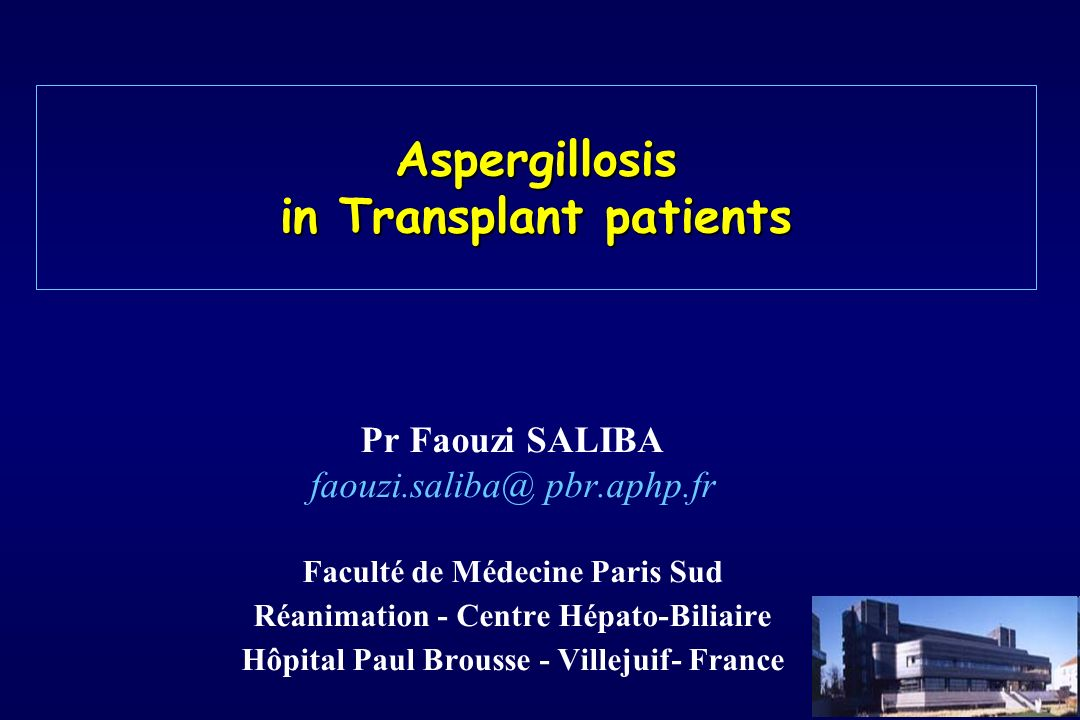Aspergillosis in Transplant patients