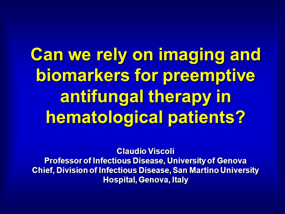 Can we rely on imaging and biomarkers for preemptive antifungal therapy in hematological patients.
