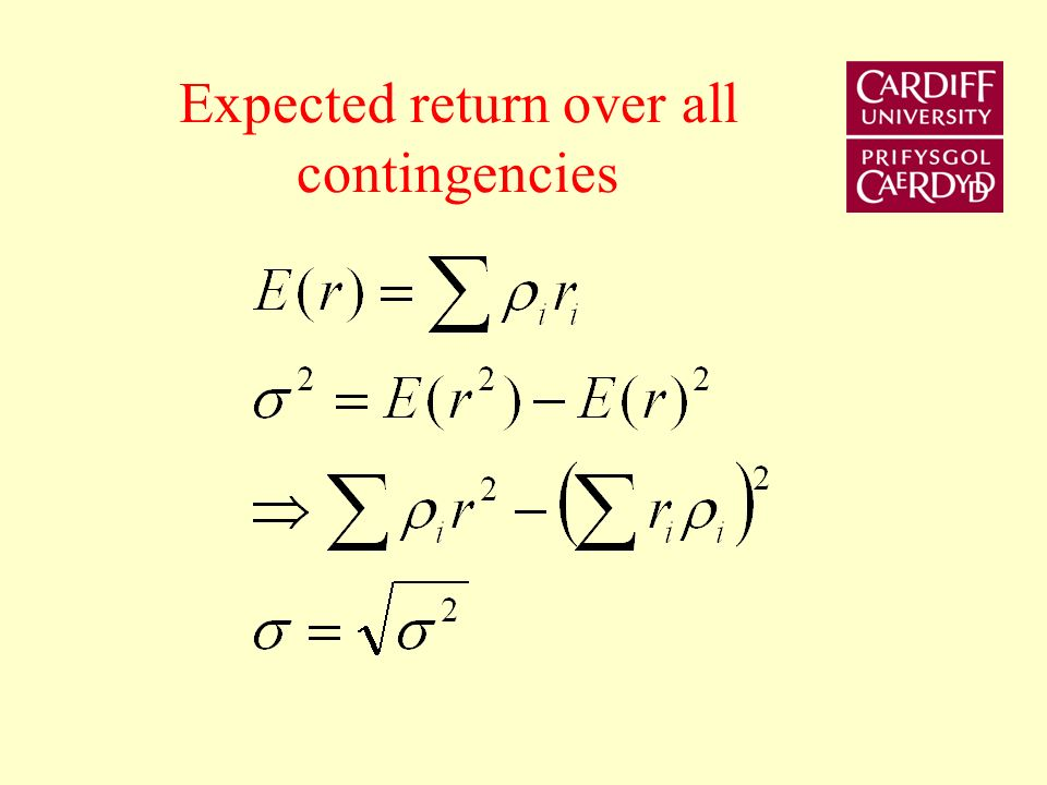 Expected return over all contingencies