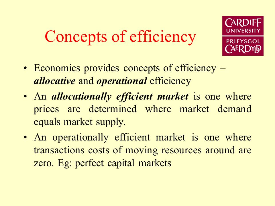 Concepts of efficiency